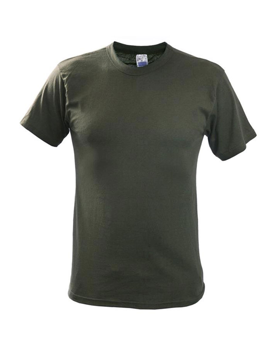 Μπλουζάκι λαδί μονόχρωμο επιχειρησιακό